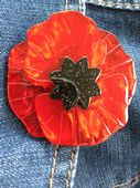 Red Poppy Brooch - Flower Pin  - Poppy Field by Erstwilder